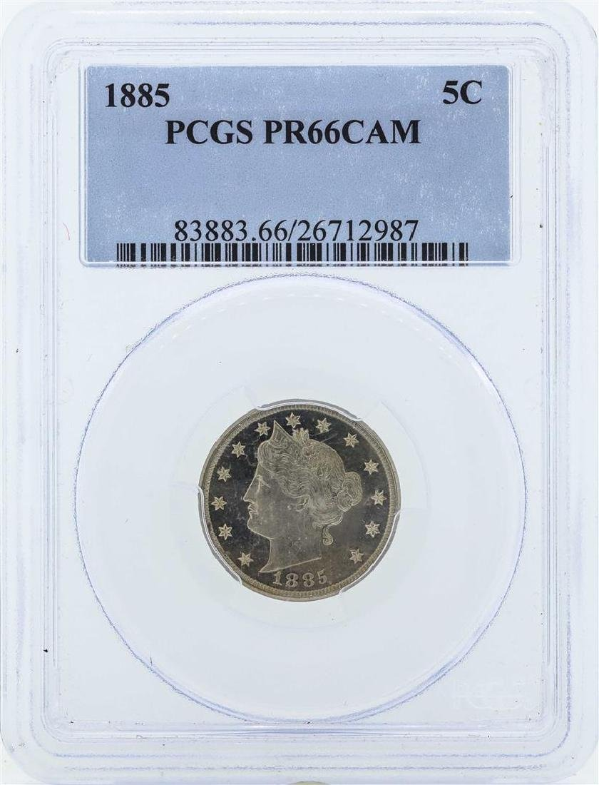 1885 Liberty V Proof Nickel Coin PCGS PR66CAM