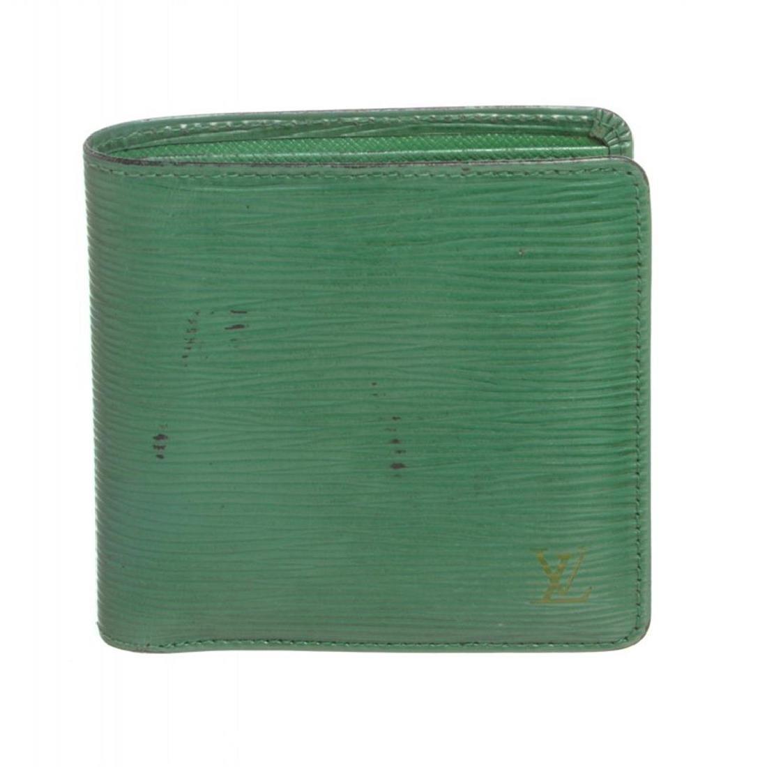 Louis Vuitton Green Epi Leather Marco Mens Wallet