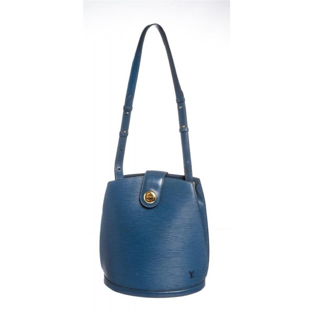 Louis Vuitton Blue Epi Leather Cluny Shoulder Bag