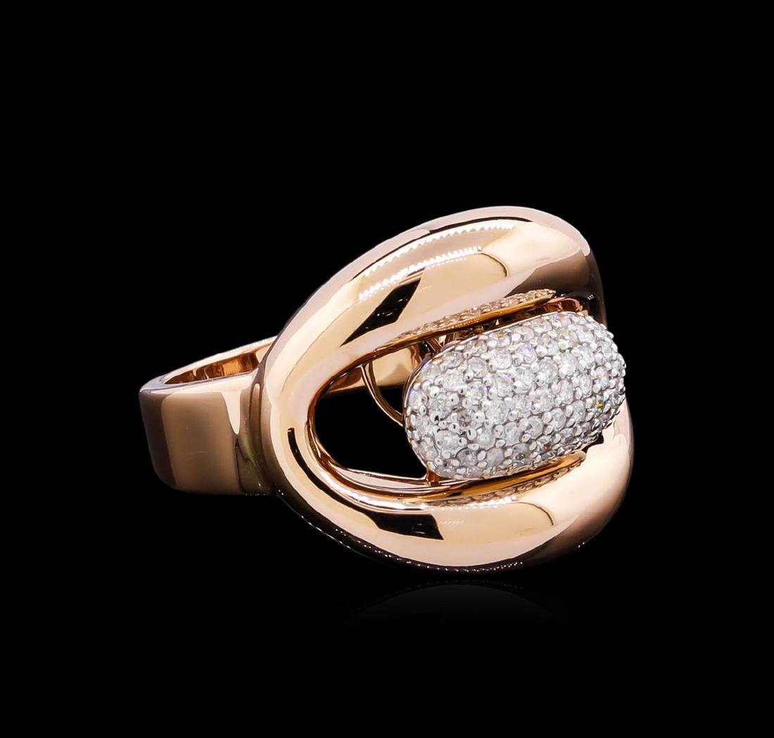 0.45 ctw Diamond Ring - 14KT Two-Tone Gold