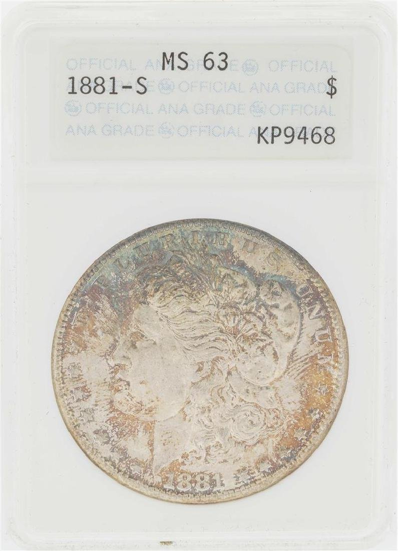 1881-S $1 Morgan Silver Dollar Coin ANA MS63