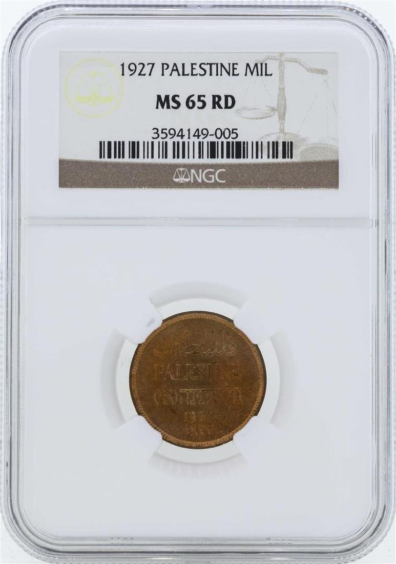 1927 Palestine Mil Coin NGC MS65RD