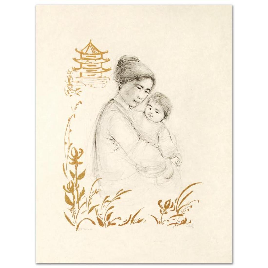 Lei Jeigiong and her Baby in the Garden of Yun-Ta by