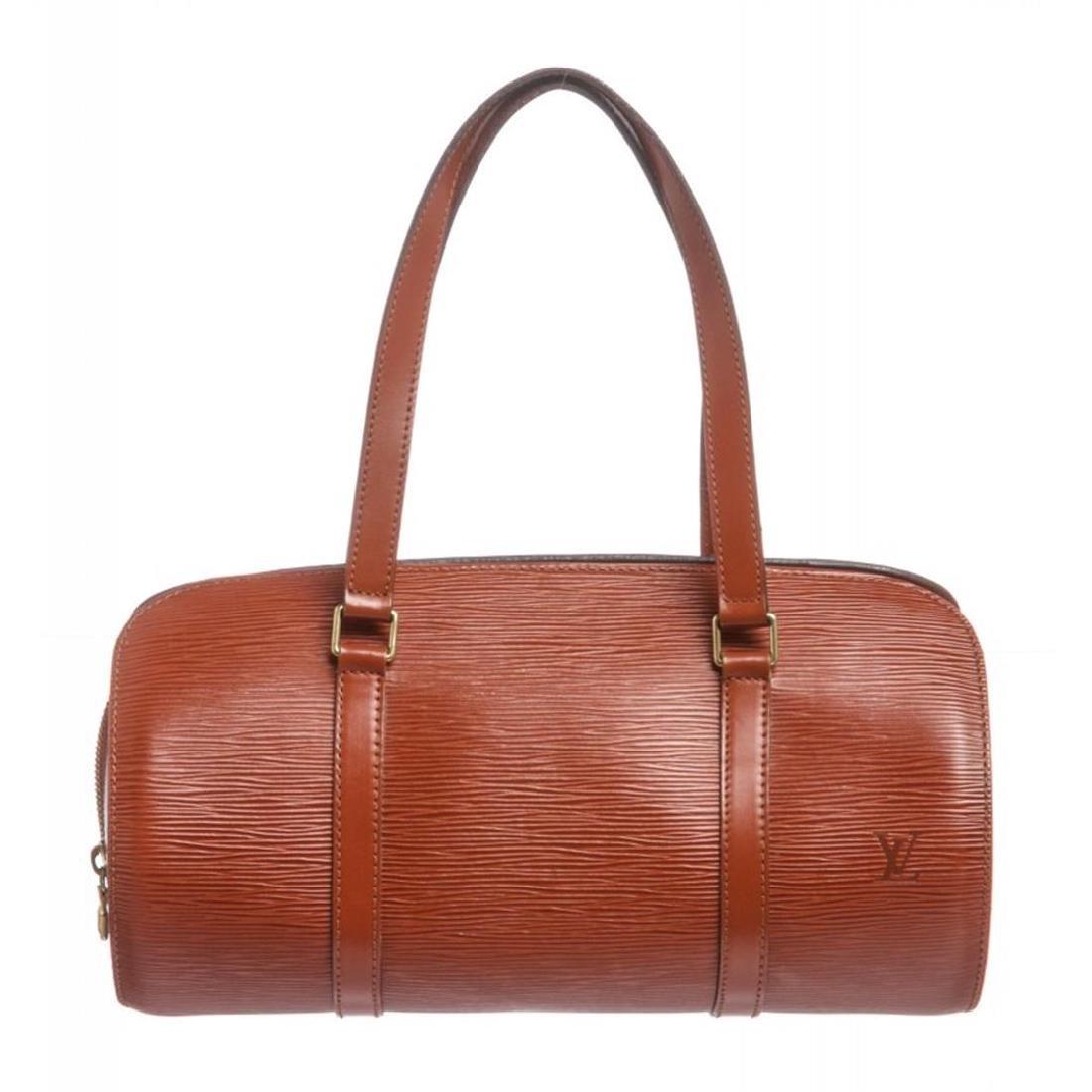 Louis Vuitton Cipango Gold Epi Leather Soufflot