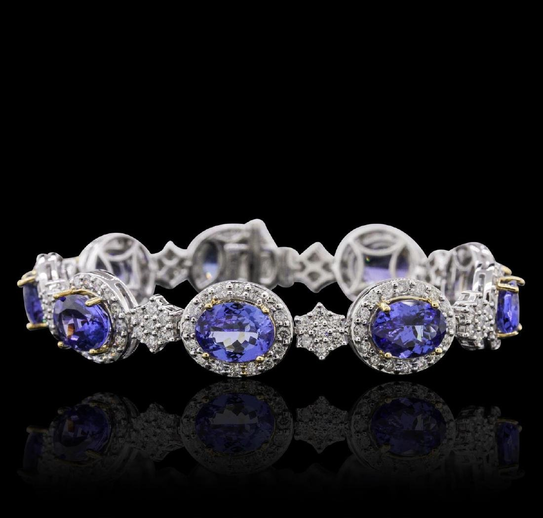 14KT Two-Tone Gold 18.81 ctw Tanzanite and Diamond