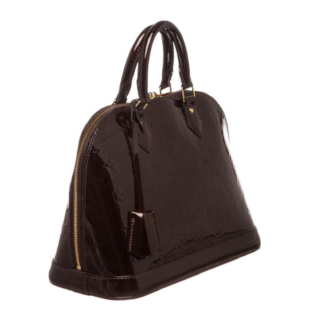 Louis Vuitton Vernis Amarante Leather Monogram Alma PM