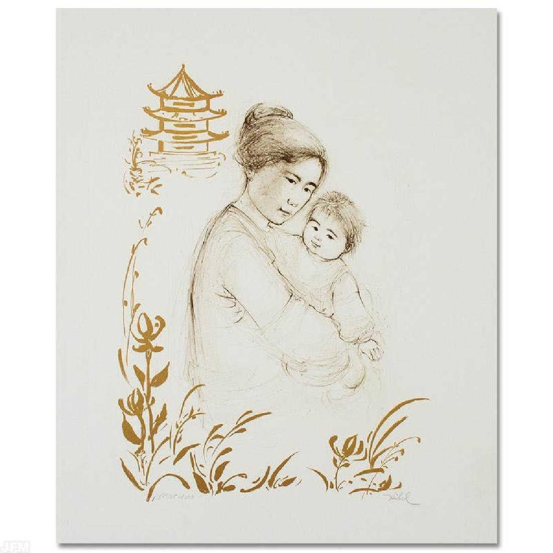 Lei Jeigiong and her Baby in the Garden of Yun-Tai by