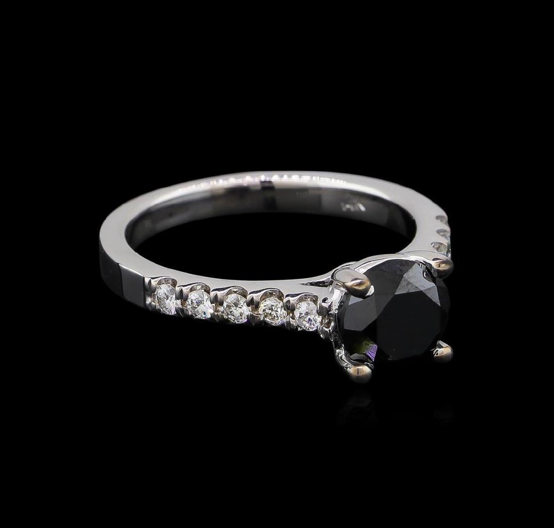 1.92 ctw Black Diamond Ring - 14KT White Gold