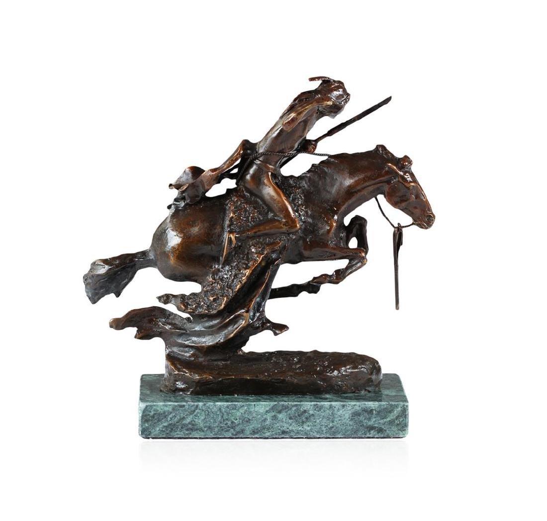 Cheyenne Bronze Replica By Frederic Remington - 3
