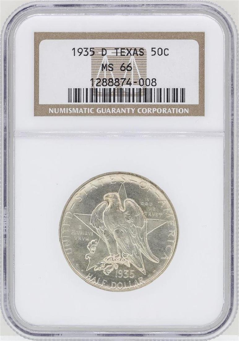 1935-D Texas Commemorative Half Dollar Coin NGC MS66