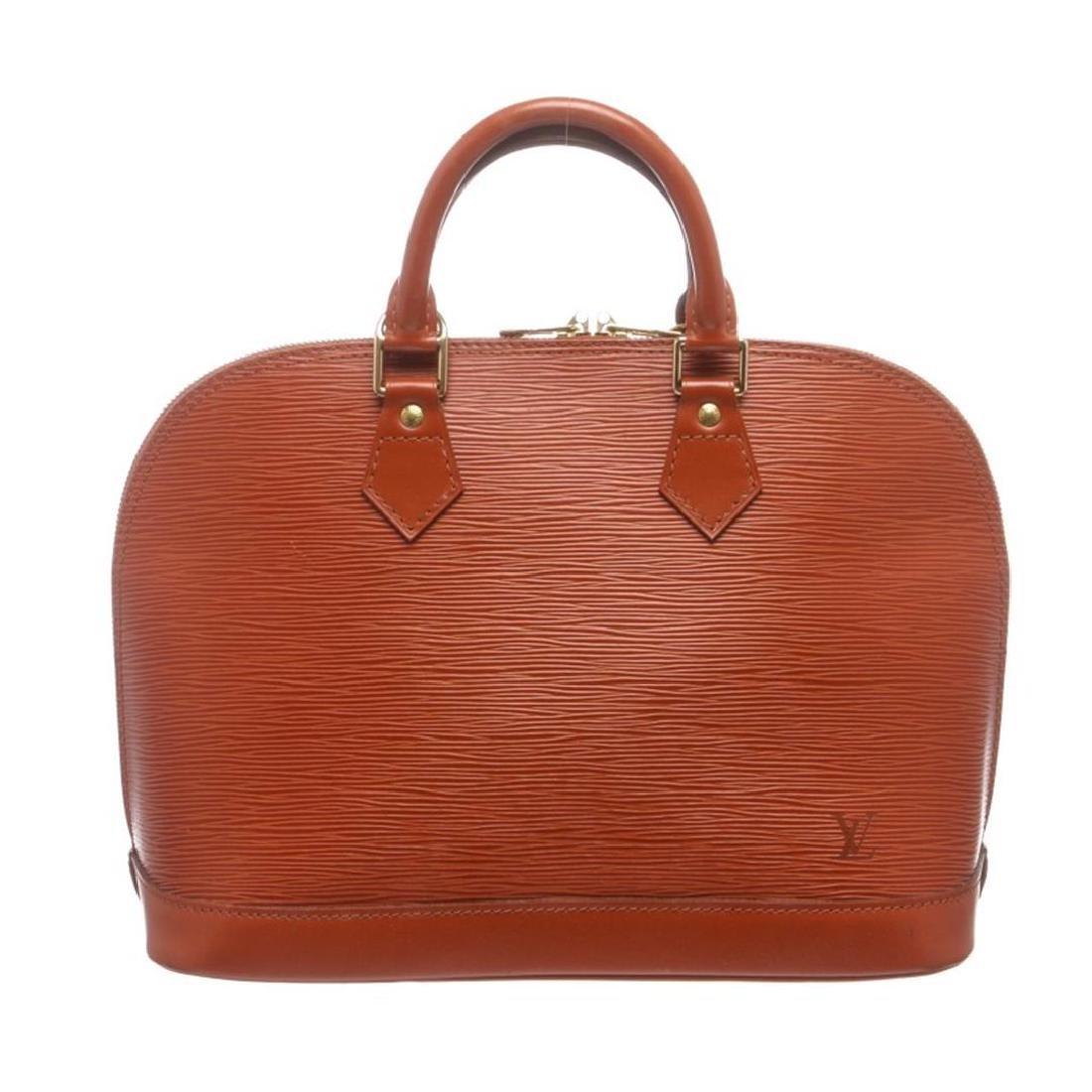 Louis Vuitton Sienna Brown Epi Leather Alma PM Bag