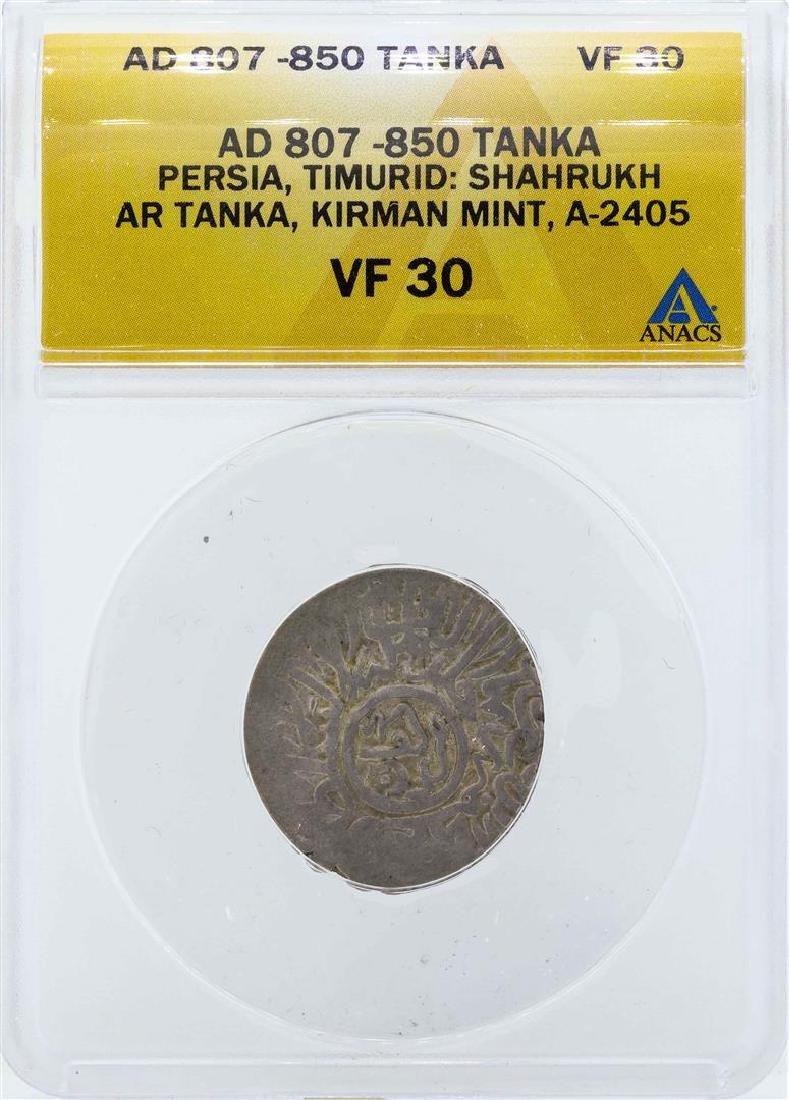 AD 807-850 Persia Tanka Timurid Kirman Mint Coin ANACS