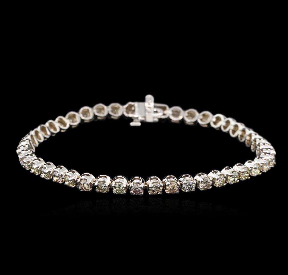 4.82 ctw Fancy Brown Diamond Tennis Bracelet - 14KT