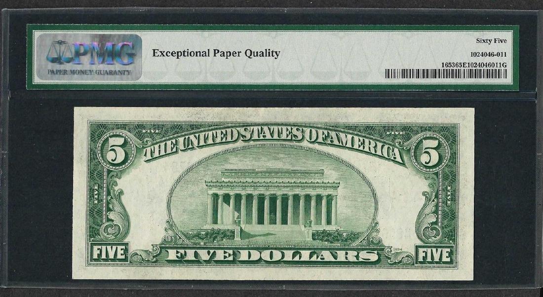 1934C $5 Silver Certificate Note Fr.1653 PMG Gem