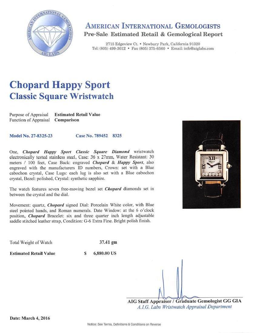 Chopard Stainless Steel Diamond Happy Sport Watch - 4