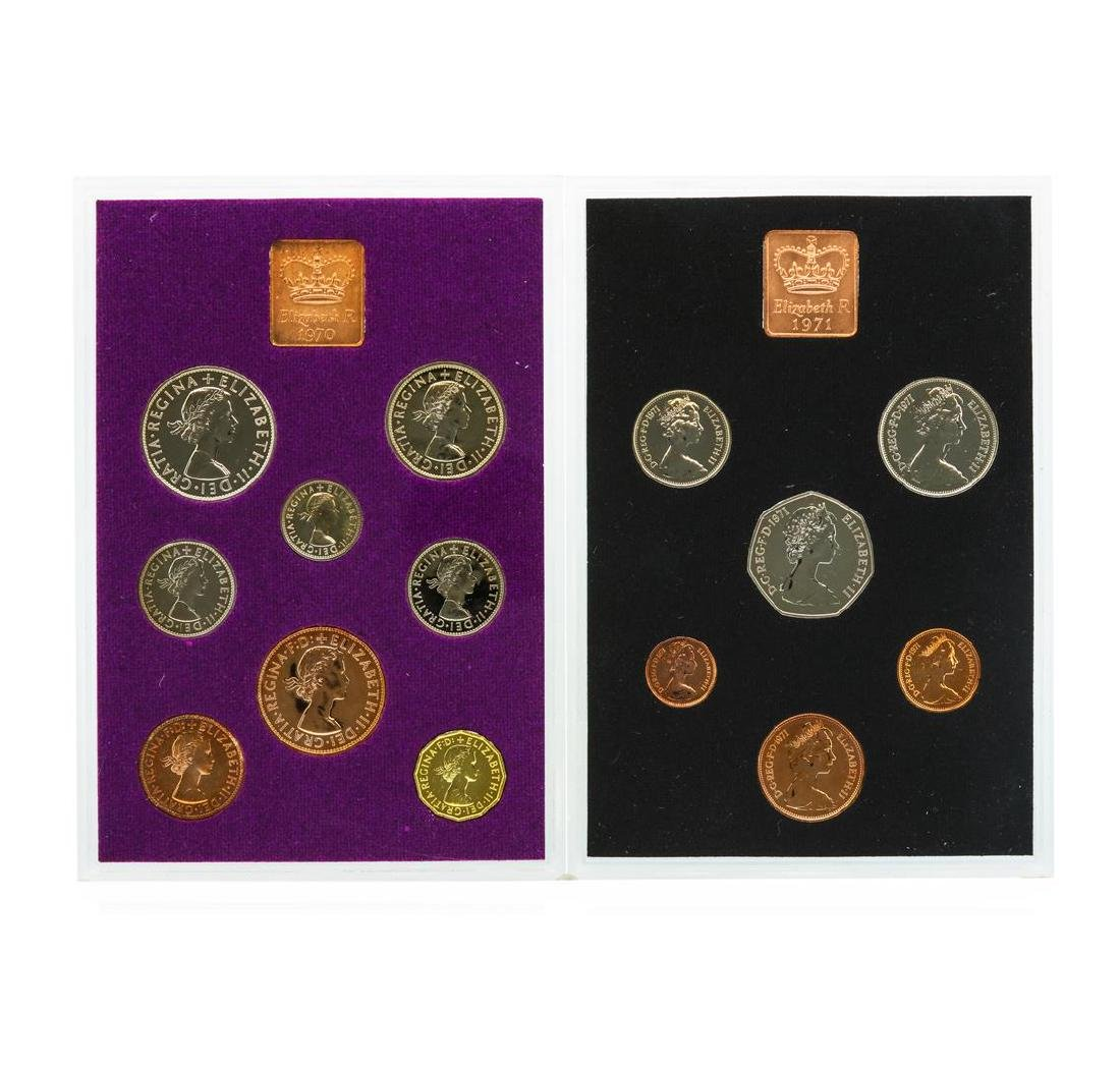1970-1971 Coinage of Great Britain and Northern Ireland - 2