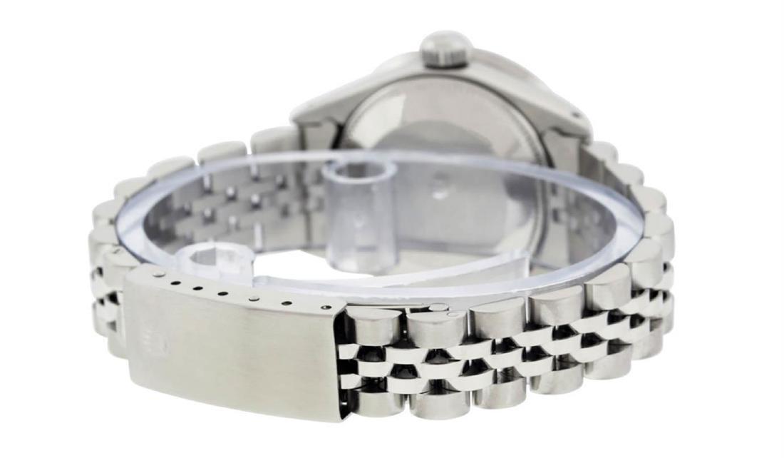 Rolex Ladies Stainless Steel Ice Blue Diamond 26MM - 5