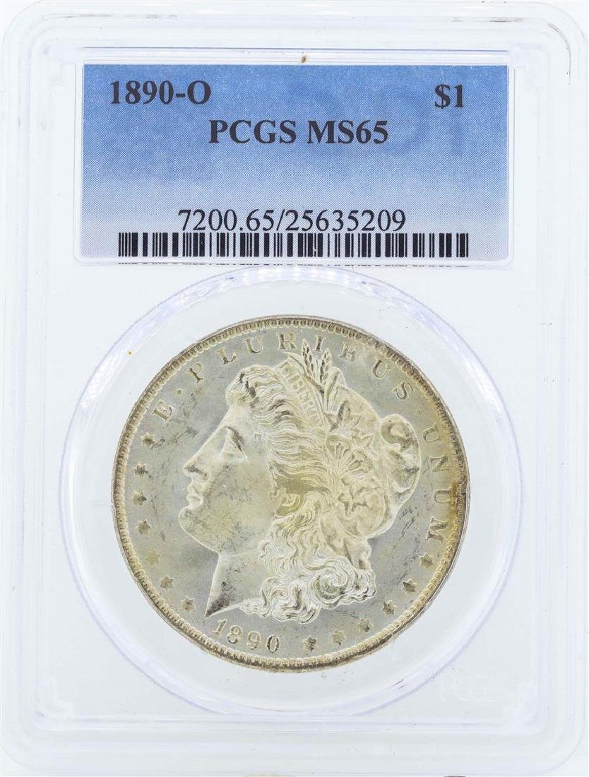 1890-O $1 Morgan Silver Dollar Coin PCGS MS65