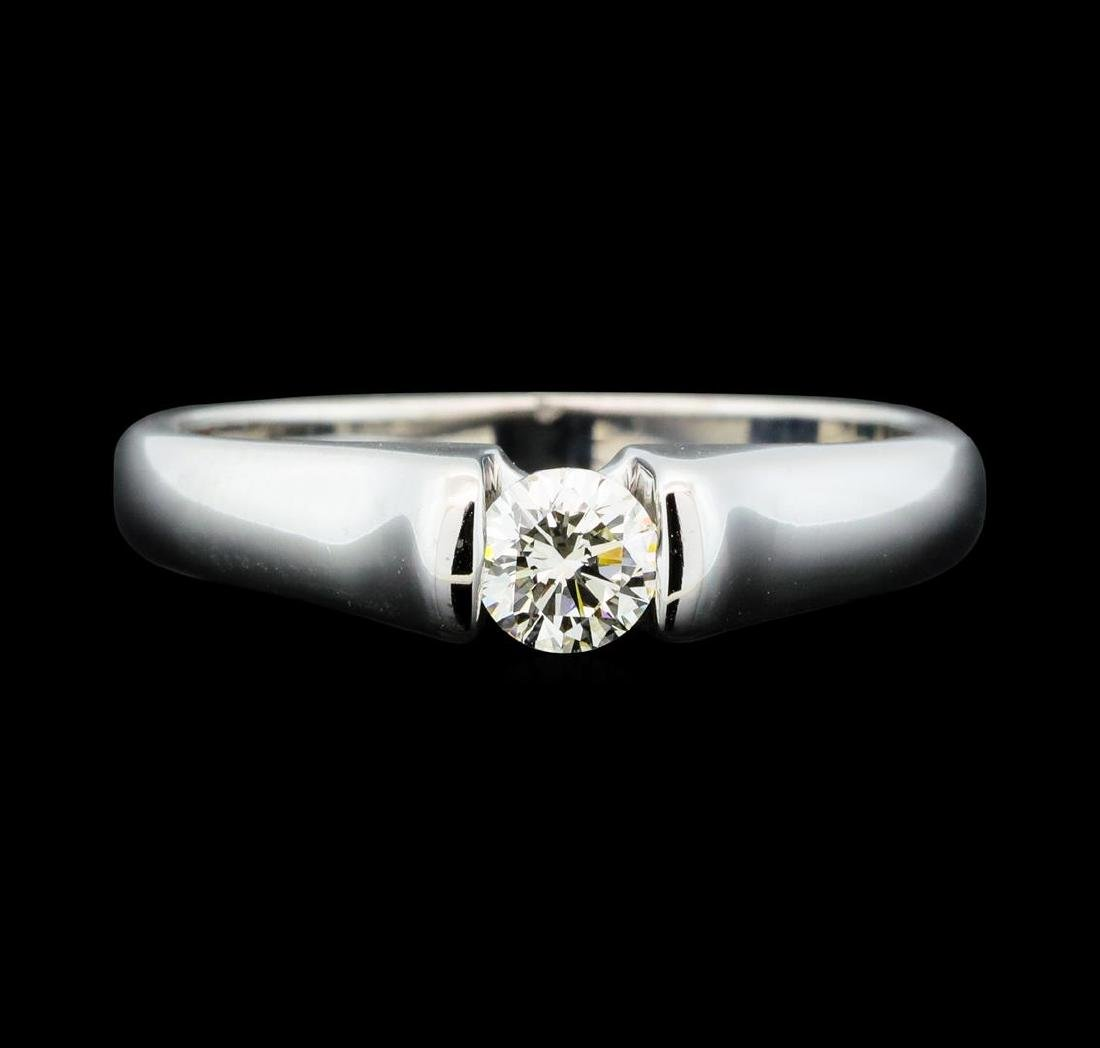 0.30 ctw Diamond Solitaire Ring - 14KT White Gold - 2