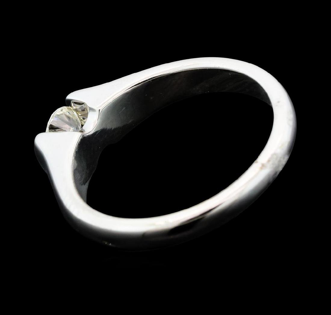0.30 ctw Diamond Solitaire Ring - 14KT White Gold - 3