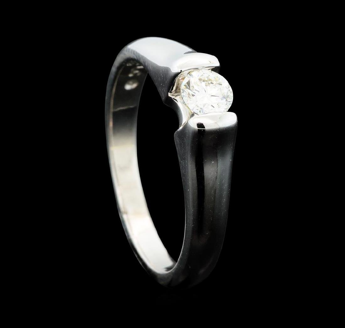 0.30 ctw Diamond Solitaire Ring - 14KT White Gold - 4