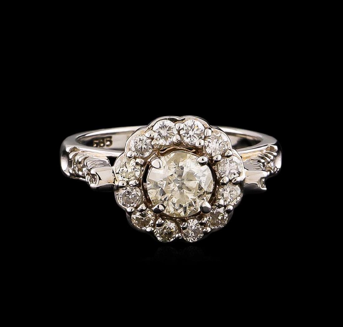 14KT White Gold 1.63 ctw Diamond Ring - 2
