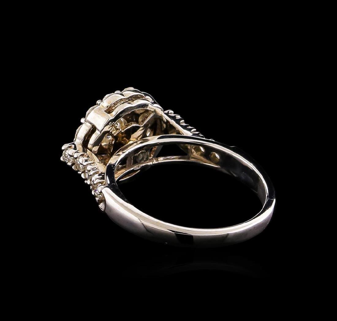14KT White Gold 1.63 ctw Diamond Ring - 3