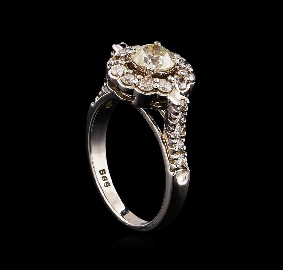 14KT White Gold 1.63 ctw Diamond Ring - 4