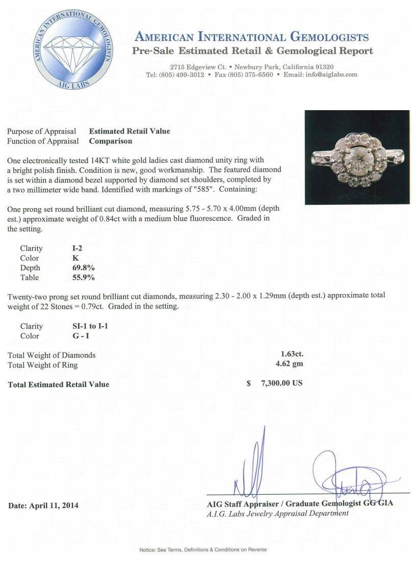 14KT White Gold 1.63 ctw Diamond Ring - 5