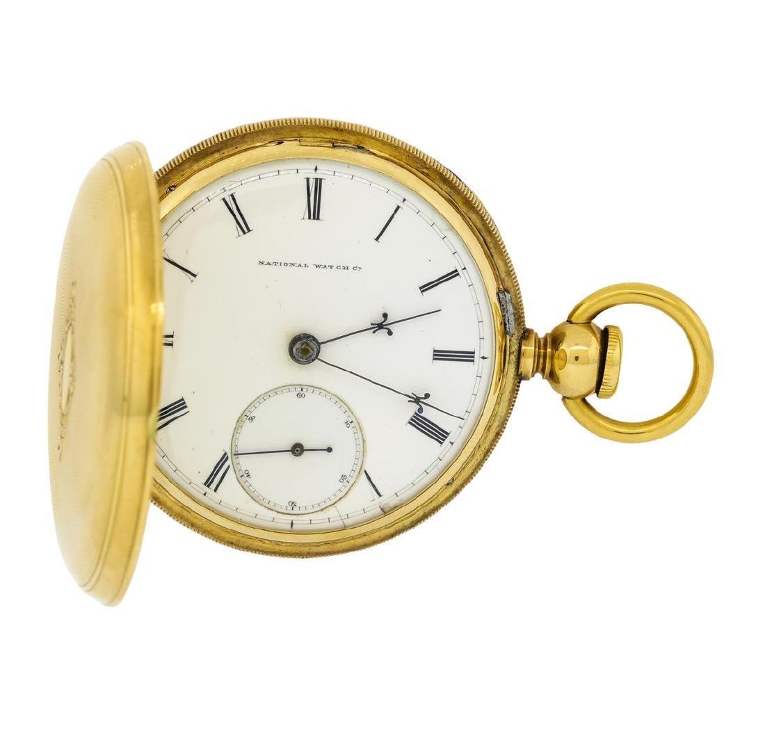 Vintage Elgin Pocket Watch - 14K Yellow Gold - 3