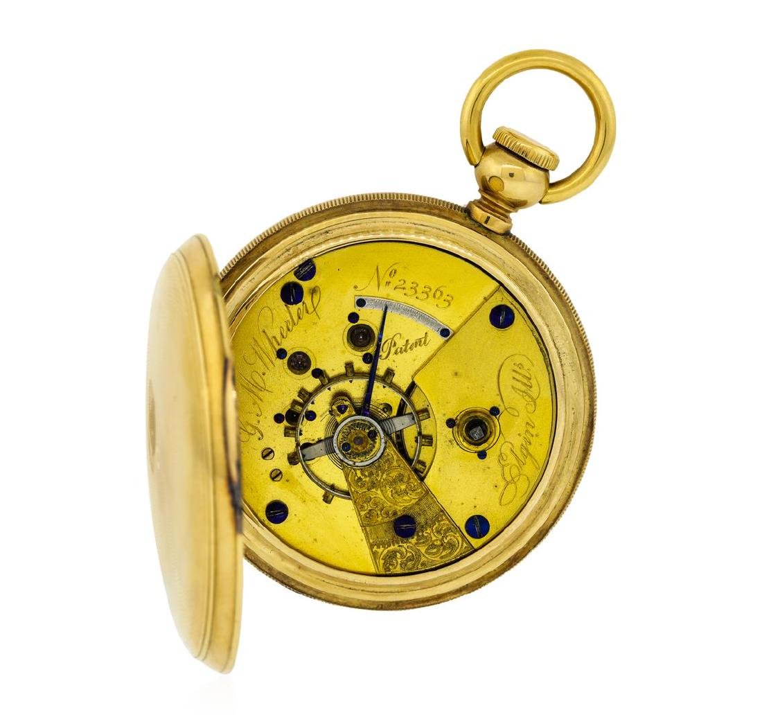 Vintage Elgin Pocket Watch - 14K Yellow Gold - 5