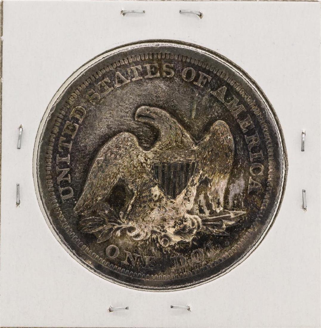 1860-O No Motto $1 Seated Liberty Silver Dollar Coin - 2