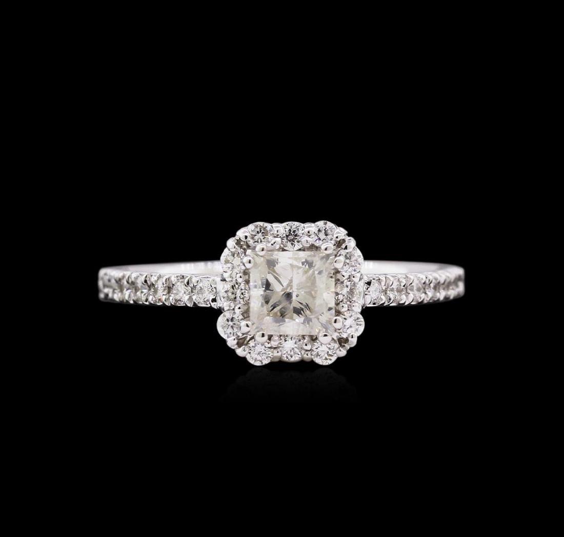 1.02 ctw Diamond Ring - 14KT White Gold - 2