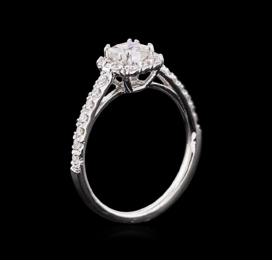 1.02 ctw Diamond Ring - 14KT White Gold - 3