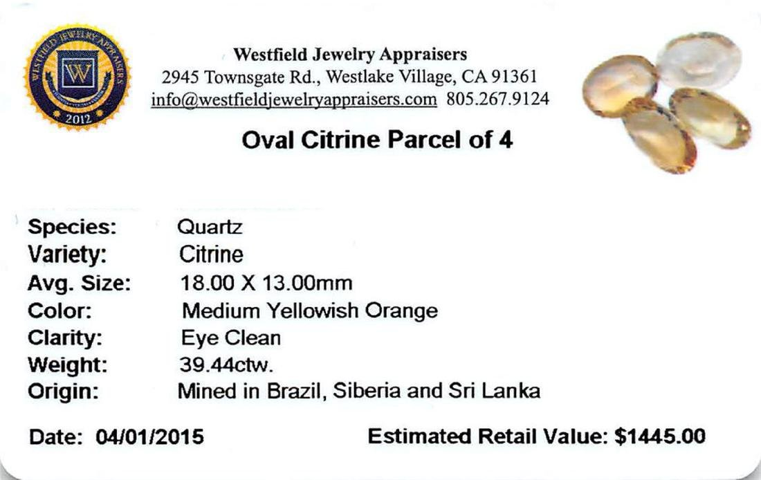 39.44 ctw Oval Mixed Citrine Quartz Parcel - 2