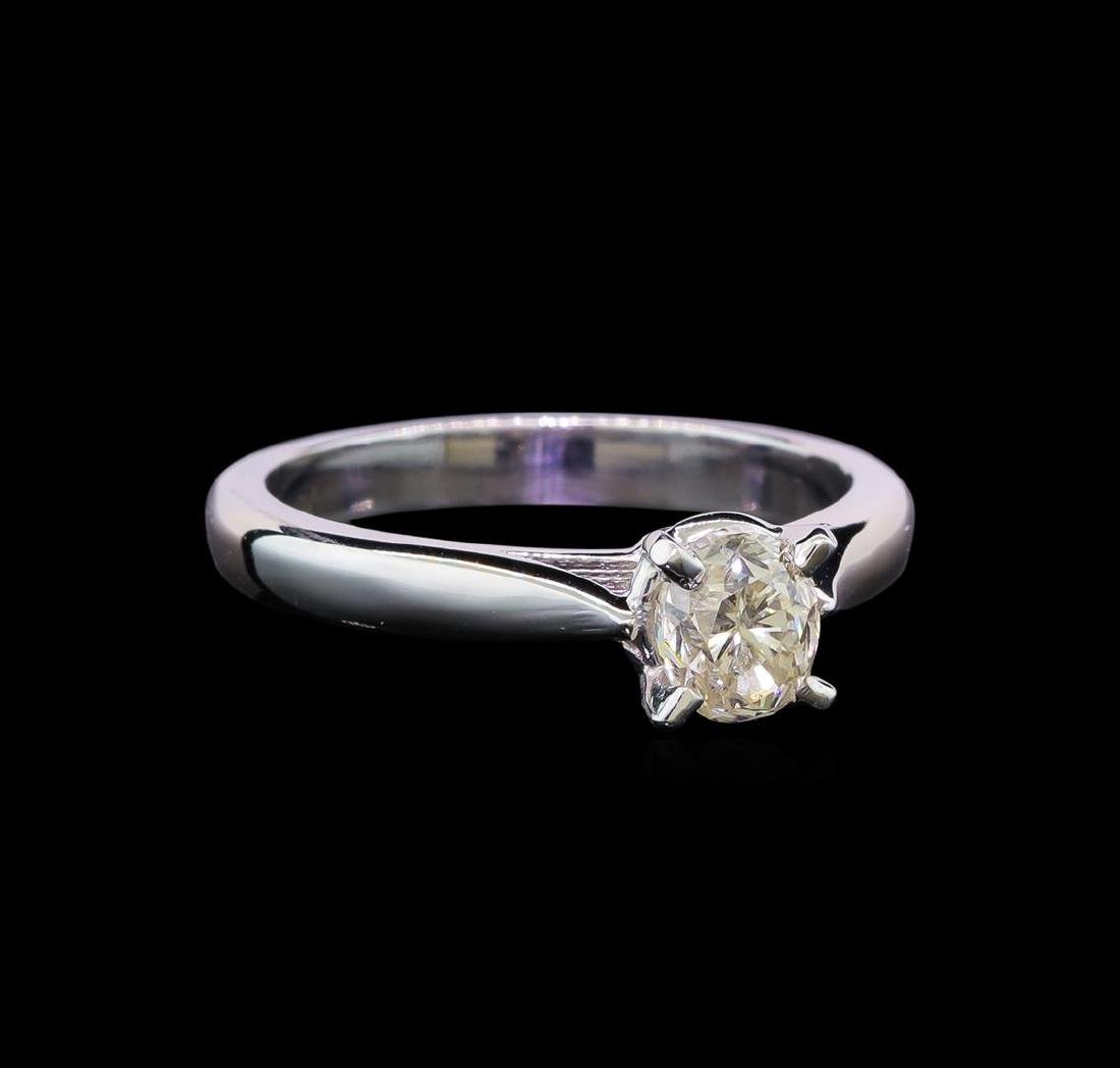 14KT White Gold 0.80 ctw Oval Cut Diamond Solitaire
