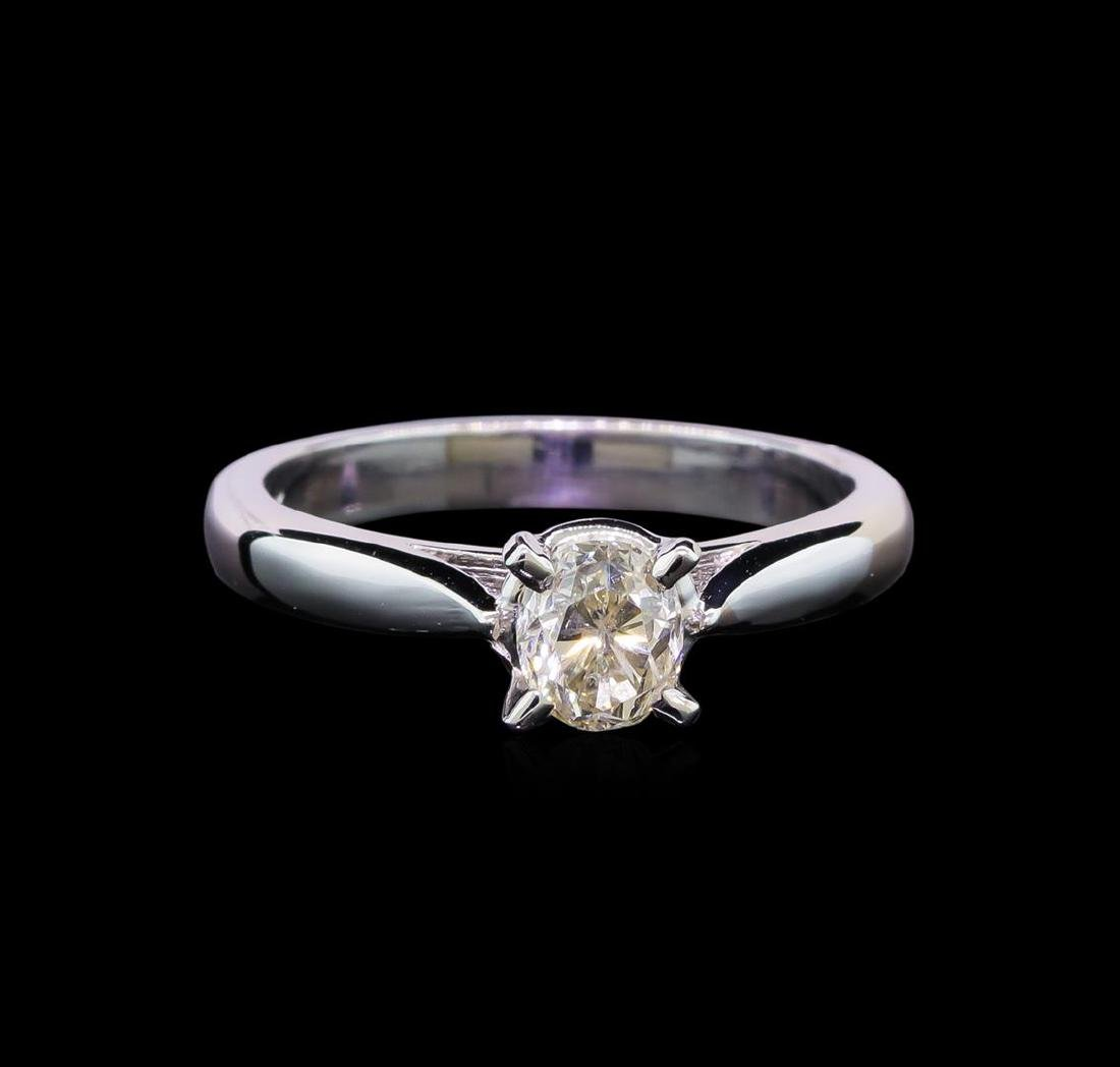 14KT White Gold 0.80 ctw Oval Cut Diamond Solitaire - 2
