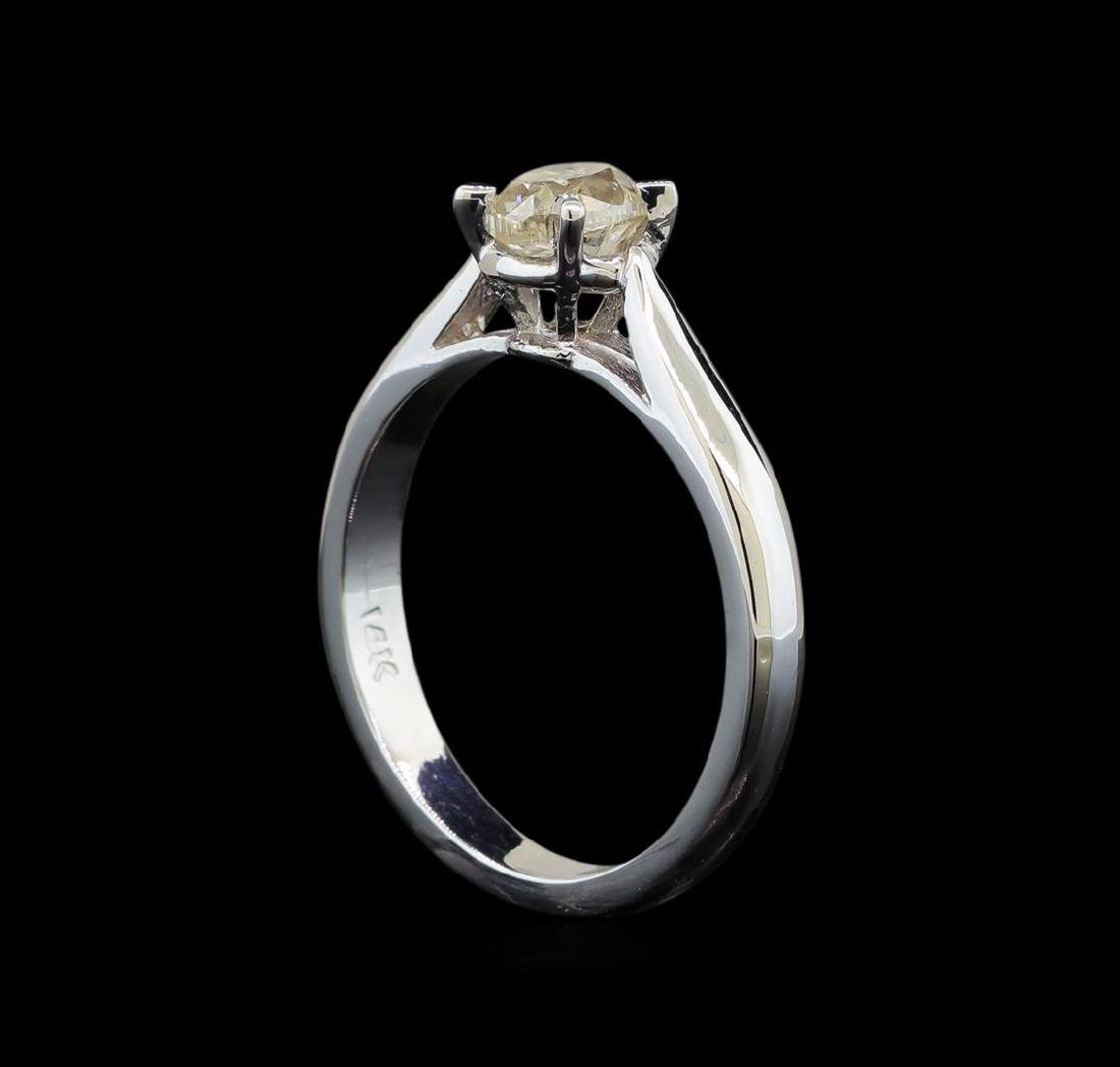 14KT White Gold 0.80 ctw Oval Cut Diamond Solitaire - 4