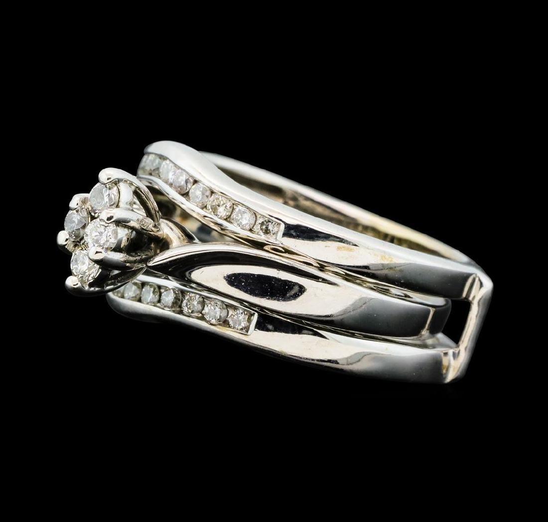 0.50 ctw Diamond Wedding Set - 14KT White Gold