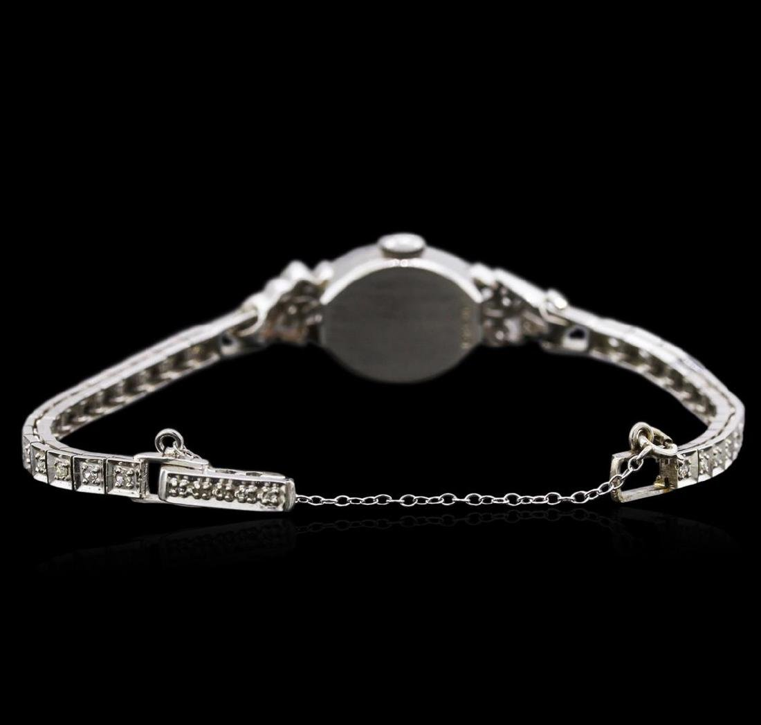 Hamilton 14KT White Gold Diamond Vintage Ladies Watch - 3