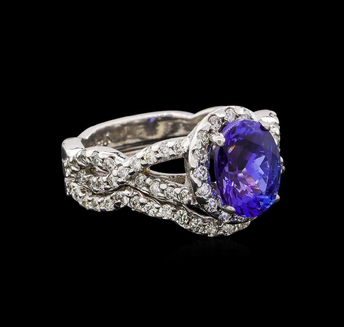 14KT White Gold 1.95 ctw Tanzanite and Diamond Wedding