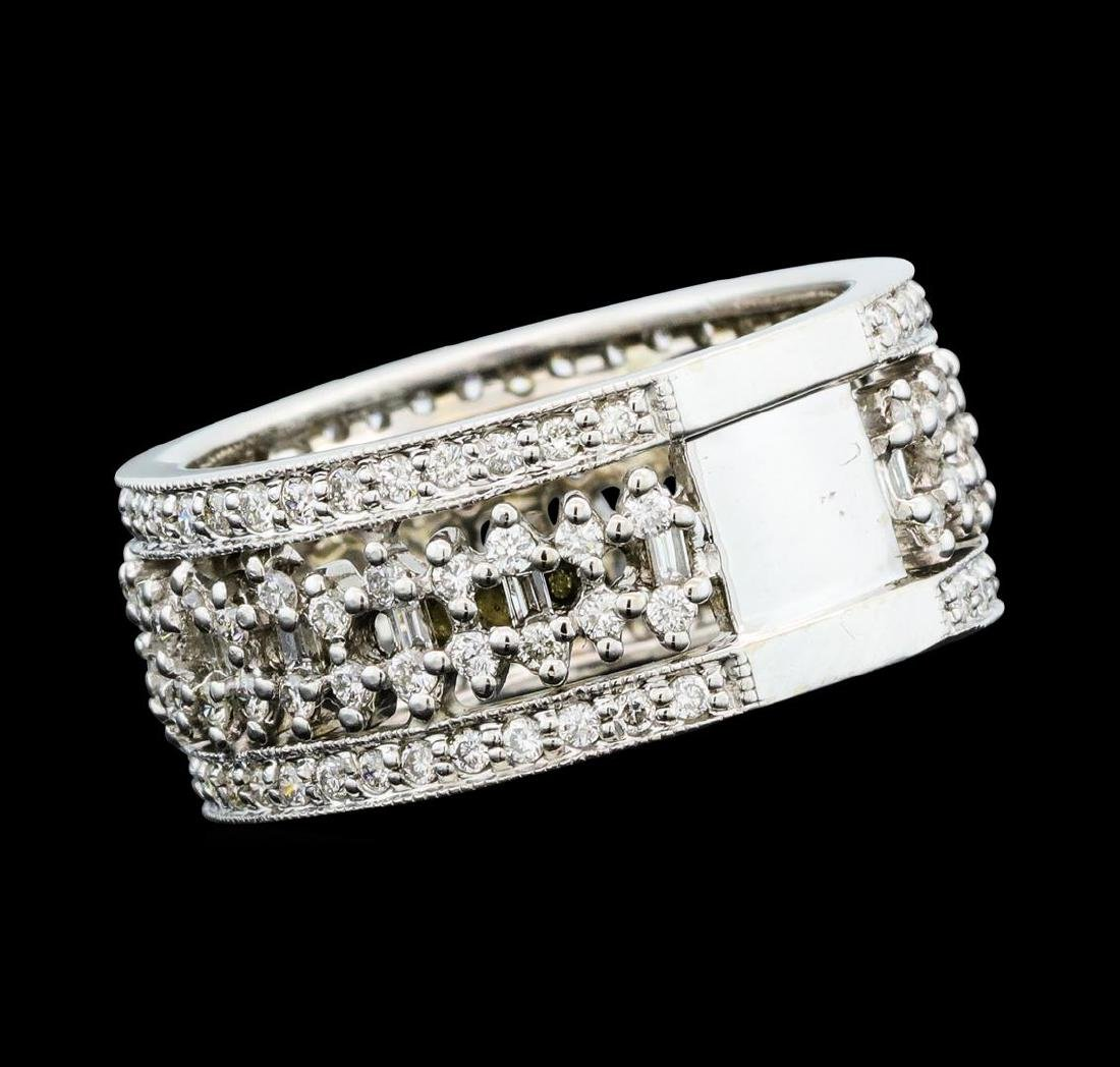 1.35 ctw Diamond Ring - 14KT White Gold - 3