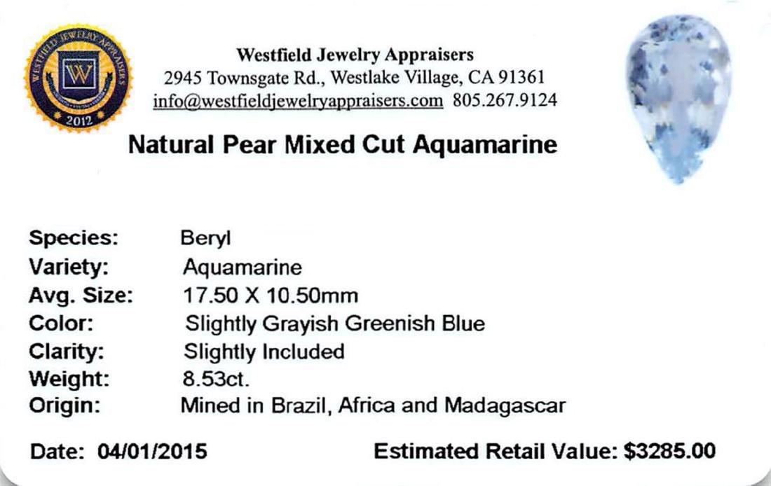 8.53 ctw Pear Aquamarine Parcel - 2