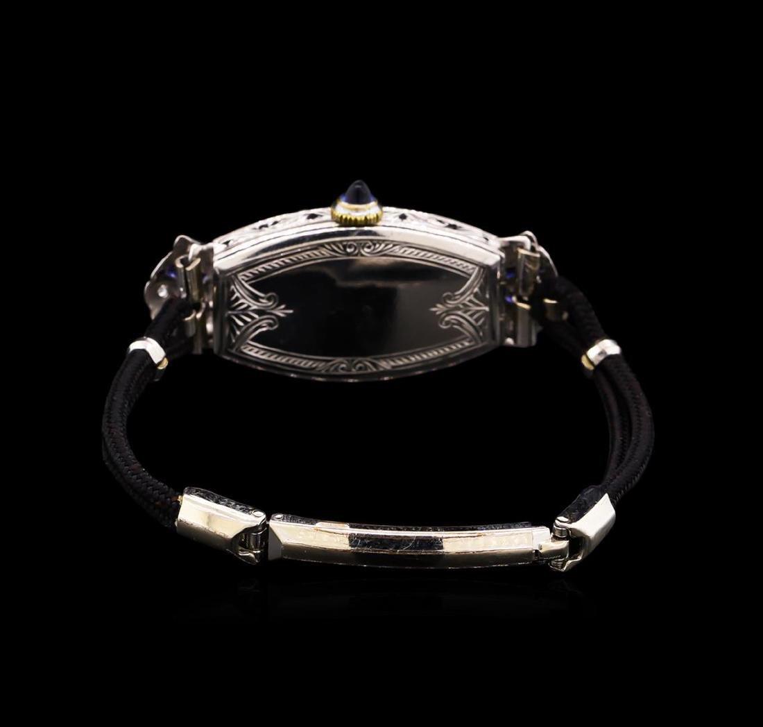 Zila Platinum Diamond Vintage Ladies Watch - 2
