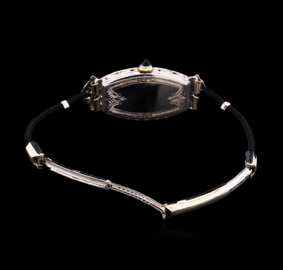 Zila Platinum Diamond Vintage Ladies Watch - 3