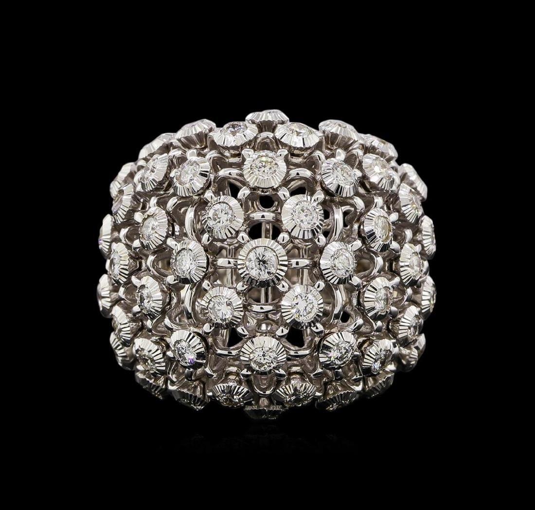 14KT White Gold 0.72 ctw Diamond Ring - 2