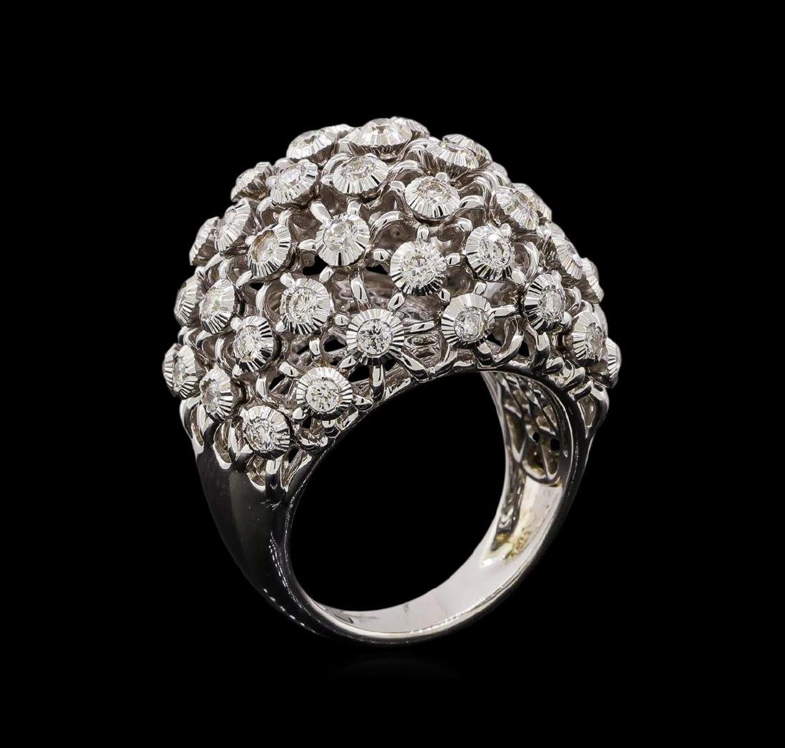 14KT White Gold 0.72 ctw Diamond Ring - 4