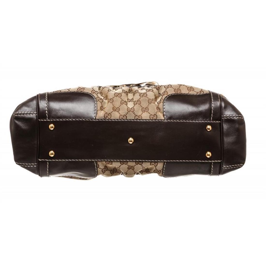 Gucci Beige Canvas Monogram Brown Leather Dialux Queen - 4