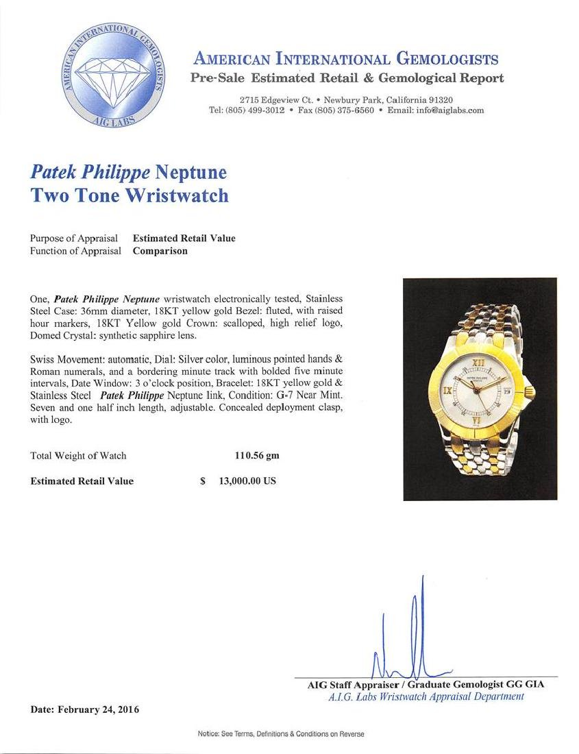 Patek Philippe 18KT Two-Tone Neptune Watch - 5