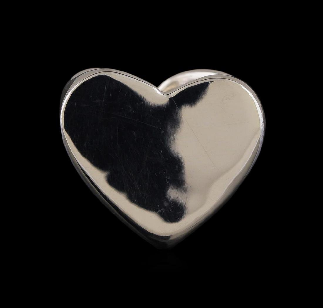 Classic Sterling Silver Heart Ring - 2